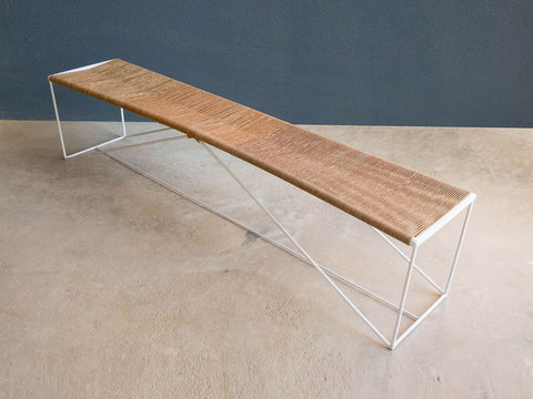 Tabled moire bench 01